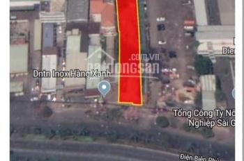 Bán gấp khu đất 2MT Điện Biên Phủ, Bình Thạnh, DT: 1453m2, giá: 350 tỷ, LH: 0784666639