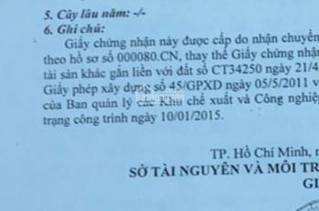 Cần bán gấp nhà xưởng KCN Tân Tạo, quận Bình Tân. Giá 15tr/m2