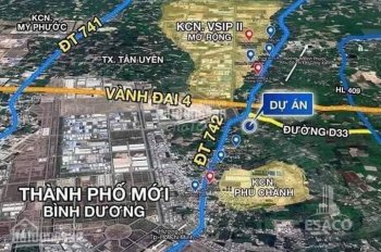 Ngân hàng Vietcombank thanh lý 10 lô đất giá rẻ, ngay KCN VSIP 2