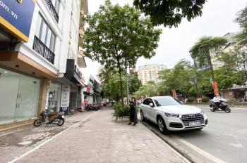 Cho thuê nhà mặt phố 127 đường đôi Kim Đồng, Tân Mai, MB 100m2 * 5T mới hai mặt tiền, vỉa hè 10m