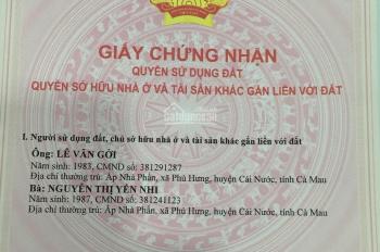 Chính chủ bán đất nền tại QL63, xã An Xuyên, Tp. Cà Mau