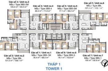 Hot! Cần bán gấp Palm Heights 3PN view Landmark 81, giá 4.550 tỷ giao thô