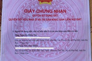 Bán đất khu tái định cư Tân Phước, Phú Mỹ, BR - Vũng Tàu - DT: 5x20m. Đường nhựa, sổ hồng chính chủ
