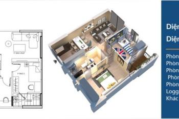 Cần bán nhanh căn 1006, diện tích 62.9m2, CC Hà Nội Homeland, giá 22,5tr/m2, liên hệ 0396937980