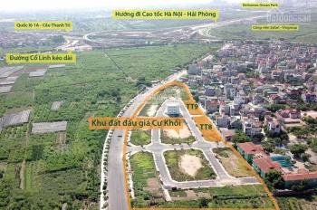 Đất đấu giá Long Biên lô đẹp, giá tốt, bao phí, 65m2 - 75m2, sổ đỏ, LH: 0962.247.858