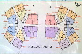 Bán gấp căn hộ chung cư CT1 Yên Nghĩa, căn 1510 tòa B, DT: 61.94m2, giá 14.5tr/m2, LH 0963922012