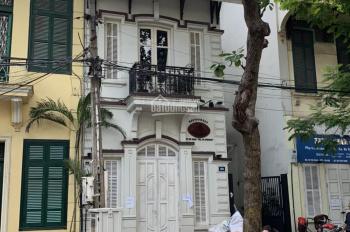 Cho thuê mặt phố Võ Thị Sáu: 80m2 x 4 tầng, mặt tiền 4,5m, nhà mới, thông sàn, rb. LH: 0974557067