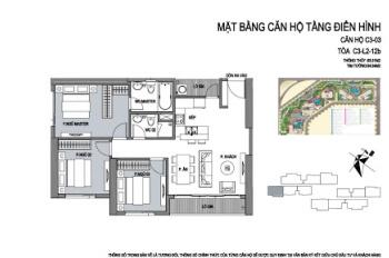 D'Capitale Trần Duy Hưng, 3 phòng ngủ, ban công Đông Nam, giá 3,75 tỷ