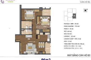 Tôi cần bán chung cư Hong Kong Tower, 97m2, tầng 16, giá 43 tr/m2 0965606926