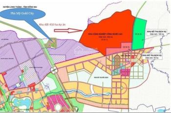 Bán đất ngay trung tâm thị xã Phú Mỹ, chỉ 11 tr/m2, sổ hồng riêng, khu dân cư đông đúc