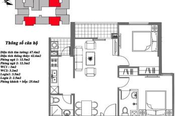 Chính chủ bán lại 62,6m2 nội khu M7 căn 2202 dự án Mipec City View, Kiến Hưng. LH 0901.328.333