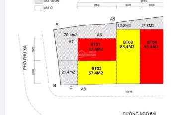 Chính chủ cần bán đất khu Phú Xá - Phú Thượng - Tây Hồ. LH trực tiếp 0983221402