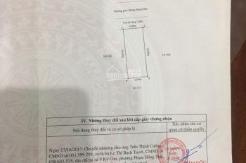 Cần bán đất TĐC Đập Tam Kì 40m2 Vĩnh Niệm, Lê Chân, Hải Phòng