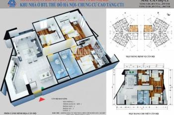 Chính chủ bán căn hộ chung cư CT1 Yên Nghĩa, 114m2, ban công ĐN, giá 12,6 triệu/m2. LH: 0902227009