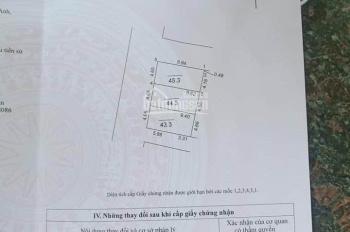 Chính chủ mở bán 43,3m2 lô đất hai mặt tiền khu Z153, tổ 11 là khu quân đội thuộc nhà máy Z153