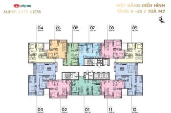Bán căn 51,9m2 toà M7 chung cư Mipec City View Kiến Hưng tầng trung đẹp