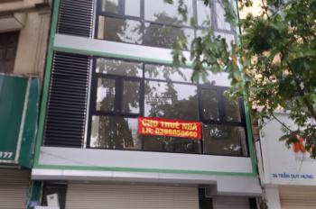 Chính chủ cho thuê 2 toà nhà cạnh nhau MP 100 - 102 Trần Duy Hưng. DT: 220m2 x 7T, MT: 14m, TM