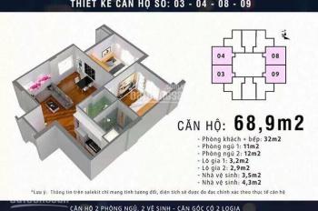 Tôi cần bán suất căn hộ chung cư Mipec City View Kiến Hưng, diện tích 68,9m2. LH tôi: 0847.988958