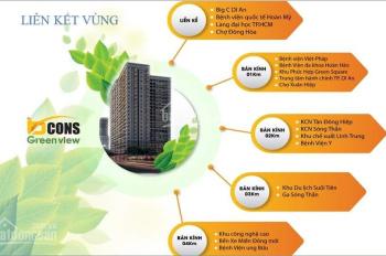 Bcons Green View căn hộ 2PN giá tầm trung cho mọi gia đình, liên hệ: Thành 0903693747