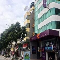 Cho thuê nhà MP Nguyễn Quốc Trị. DT 110m2 x 7 tầng 1 hầm, giá 115 triệu/tháng