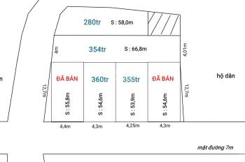 Chỉ với 360tr sở hữu lô đất hơn 54m2 mặt đường 7m, ô tô tránh nhau, bìa đỏ chính chủ. LH 0398529946