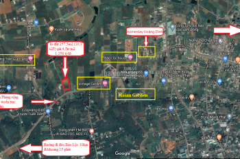 Bán đất sổ hồng 3.5 triệu/m2 đường Phan Đình Phùng, Lộc Tiến Tp. Bảo Lộc - gần Homestay Hoàng Đình