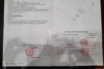 Chính chủ bán đất TP Bà Rịa Vũng Tàu, DT: 5x20m, giá: 1,1 tỷ, ngân hàng cho vay 900tr, sổ hồng