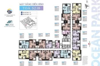 Bán căn hộ Studio tầng trung tòa S2.18 dự án Vinhomes Ocean Park chỉ 840tr. Liên hệ: 0354897100