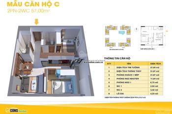 Chính chủ bán gấp căn 2 phòng ngủ, 2WC Bcons Garden giá 1,35 tỷ, giá gốc từ CĐT, trả trước 390tr