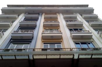 Cho thuê nhà Mễ Trì Thượng, diện tích 65m2 x 7T, mặt tiền 5m, thông sàn, có thang máy giá 35 tr/th