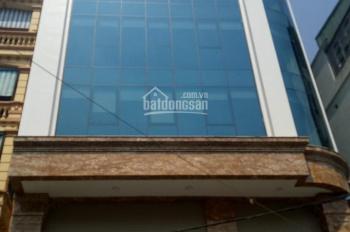 Cho thuê nhà lô góc MP Cầu Giấy, Trần Quốc Hoàn, MT 10m, DT 195m2 x 8 tầng