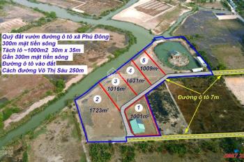 Cần bán gấp lô đất thổ vườn có gần 245m2 mặt tiền sông xã Phú Đông, Nhơn Trạch