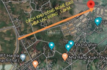 Chính chủ gửi bán lô 224m2, có 120m2 đất ở. T5 Tân Xã, Thạch Thất, Hà Nội