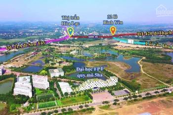 Bán Lô đất sát đường 420 cách Công nghệ cao 800m cách chợ ngã 3 Hòa Lạc 500m đường rộng 10m