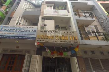 Cho thuê nhà MT 87 Hoa Lan, phường 2, Phú Nhuận DT: 4 x20m, 2 lầu. Giá 65 tr/th