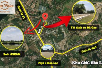 Bán lô đất 73m2, MT 5.15m giá siêu rẻ tại khu tái định cư Đà Gạo, sát khu công nghệ cao Hòa Lạc