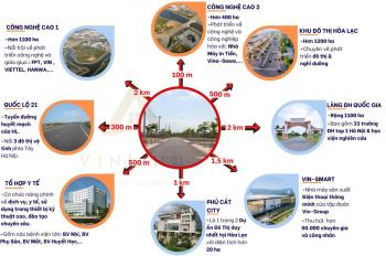 Bán đất TĐC Vai Réo - khu công nghệ cao Hòa Lạc - mặt tiền 6m - giá đầu tư - 2 lô duy nhất