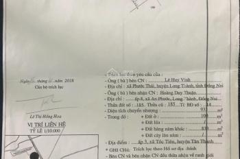 Bán đất mặt đường Hắc Dịch - Tóc Tiên - Tx Phú Mỹ- Bà Rịa - Vũng Tàu