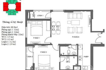 Chính chủ cần bán căn 04 diện tích 68.9m2 tòa M4 dự án Mipec City View Hà Đông