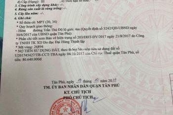 Nhà Trần Thủ Độ, Tân Phú , 40m2, 1 trệt 1 lầu, nhà  xây mới, 3,2 tỷ thương lượng.