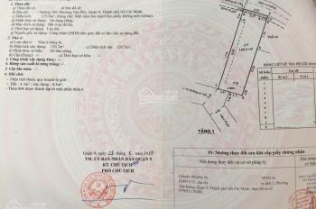 Bán nhà 1 sẹc đường 100, P. Tân Phú, Q9, DT: 125m2, gía: 5 tỷ
