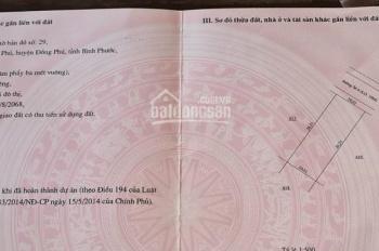 Còn lô đất ngay TTHC Đồng Phú 10x26m full thổ cư có sổ sẵn công chứng ngay, LH 0962 263 160