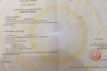 220m2 có 120m2 thổ cư MT đường 490, Phạm Văn Cội, giá 1.5tỷ. 0948753399