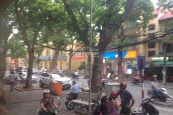Cho thuê nhà mặt phố Bà Triệu, lô góc hai mặt tiền: Diện tích 40m2 x 2T, mặt tiền 10m, vỉa hè rộng