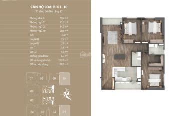 Bán căn 10 tầng đẹp tòa N01T4 Ngoại Giao Đoàn 122m2 view hồ, giá 5,5 tỷ. LH 0983638558