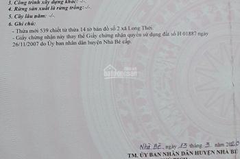 Bán đất trồng cây lâu năm đường Nguyễn Văn Tạo, xã Long Thới, huyện Nhà Bè, giá 1,03tỷ