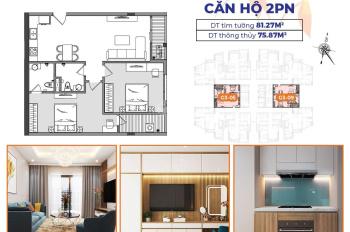 Sở hữu căn hộ trung tâm quận Long Biên chỉ với 2 tỷ - 76m2 - 2 phòng ngủ - 2vs - bàn giao cơ bản