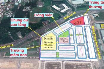 Cọc ngay 1 lô thuộc dự án KDC Bàu Xéo, mặt tiền QL1A + trạm thu phí, với giá chỉ 1,174 tỷ