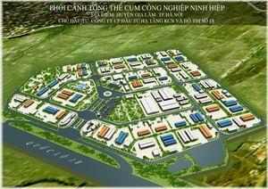 Bán đất kho xưởng tại Cụm công nghiệp Ninh Hiệp, Gia Lâm, HN. DT 2.000m2, MT 30m