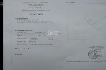 Chính chủ bán lô đất làn hai mặt đường Đồng Mô thị trấn Liên Quan Thạch Thất. DT 100m2 0854059999
